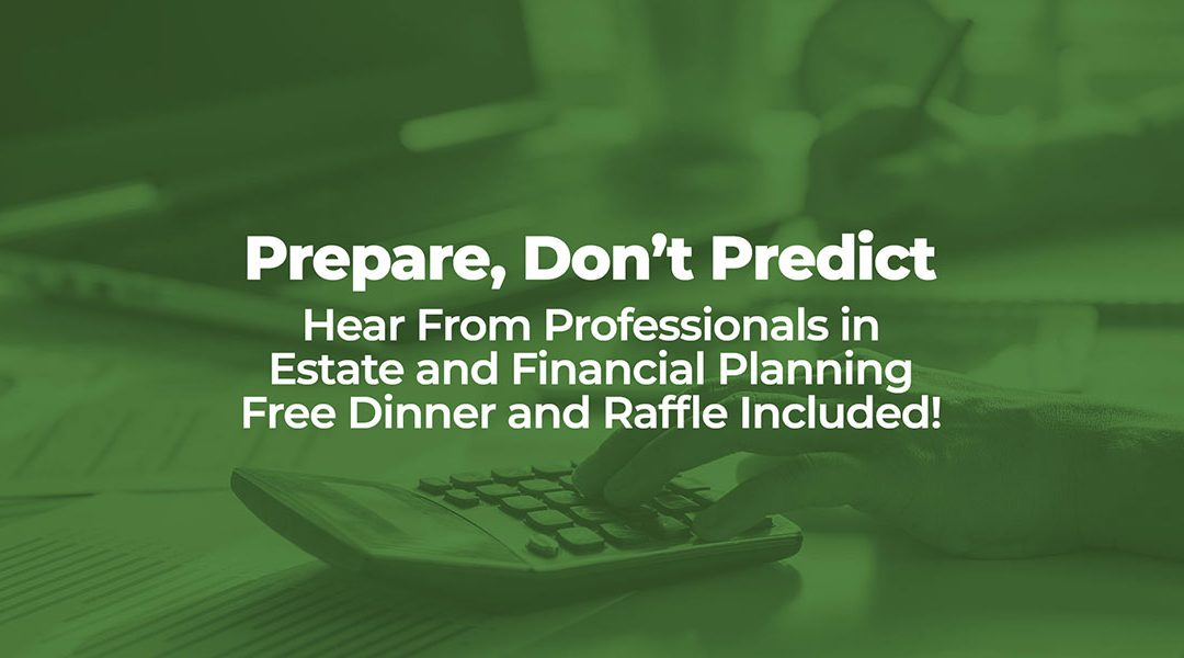 "Register Today While Space is Available for ""Prepare, Don't Predict"".  Free Event on January 29th in Cary, NC"
