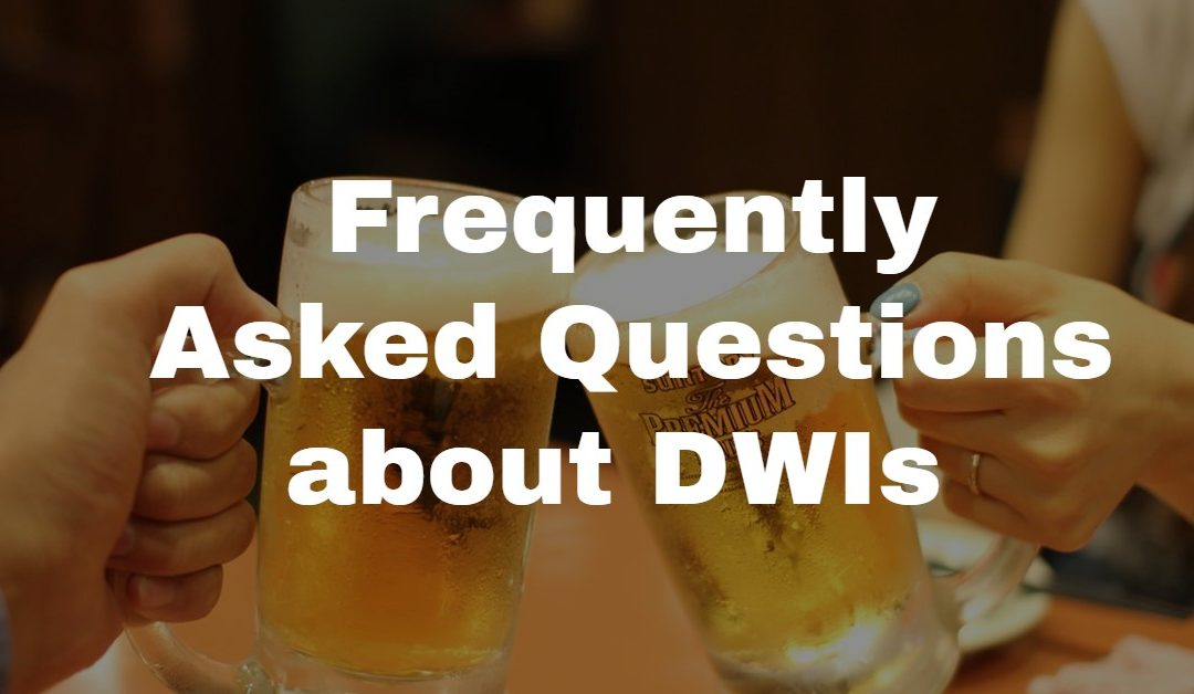 Frequently Asked Questions About DWI In North Carolina