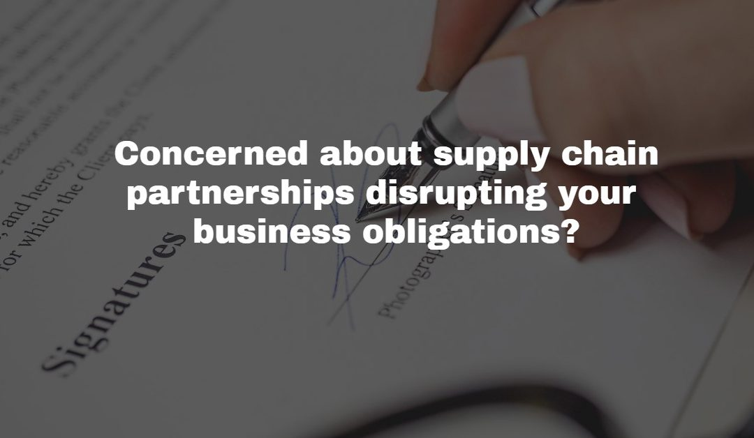 Business Contracts for Supply Chain Disruption