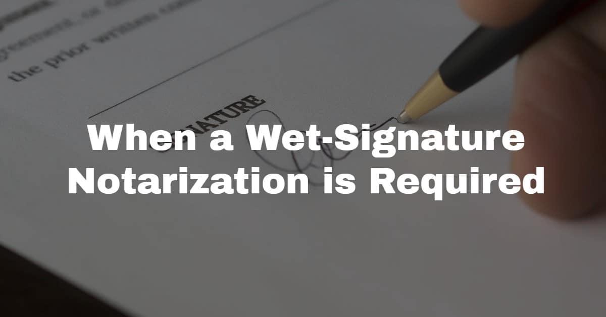wet signature