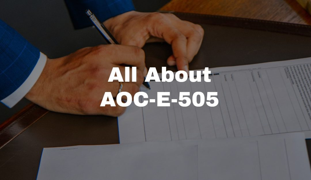 AOC-E-505, the Inventory of a Decedent's Estate in Probate