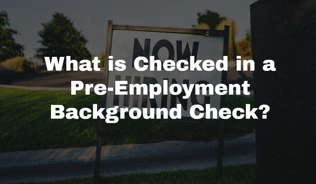 PreEmployment Background Checks